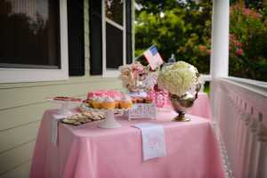 Two Sweets Bake Shop, Bluegrass Chic, and Sivan Photography; created a Bridal Shower Sweets Buffet.