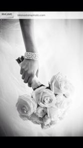White garden rose, standard rose and spray rose bridal bouquet - Bryan Adams Photography