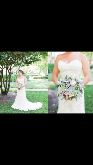 Garden rose, dusty miller, seeded euch bridal bouquet - Andi Mans Weddings