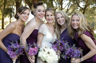 All white bridal bouquet with butterflies - Live Happy Photography