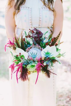 Bohemian bridal bouquet - Tara Libby Photography