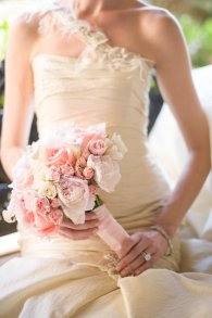 Peony, calla and spray rose  bridal bouquet - Kathy Thomas Photography