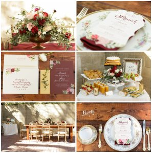 Marsala floral and tablescape
