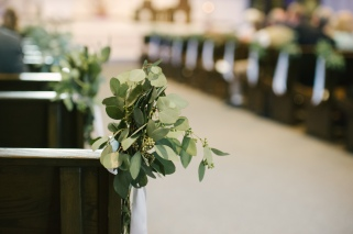 Aisle Markers for this church ceremony filled with a variety of Euchs.