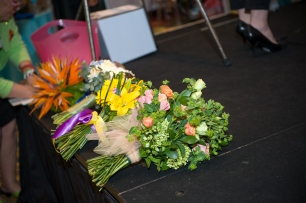 Bridal bouquets for the runway at the PWG wedding expo