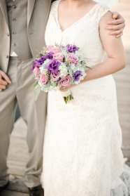 Blue and Purple Bridal bouquet