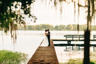 Sneaking off for a few moments with your new bride is a must. This dock made the perfect place for that.
