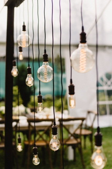 Edison bulb canopy by Get Lit Productions