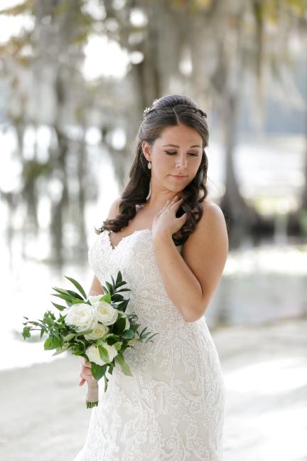 Bridal bouquet of David Austin Patience, standard rose