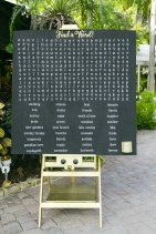 Unique Chalk board word search for the guests to enjoy during cocktail