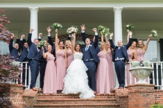 navy blue and dusty rose wedding bridesmaids