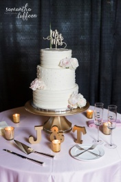 ivory and mauve dusty rose cake floral design