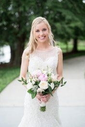blush peony rustic chic whimsical bouquet, ohera rose, lisianthus, daisy wildflower elegance wedding