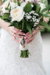 locket personalized bouquet lace wrap