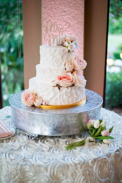 blush peony and garden rose cake floral